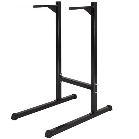 Best Choice Products Freestanding Deluxe Dip Station Stand for Chest, Shoulders, Deltoids, Triceps, Home Gym Workouts & Exercise w/ 500lb Weight Capacity - (Best Adjustable Dip Station)