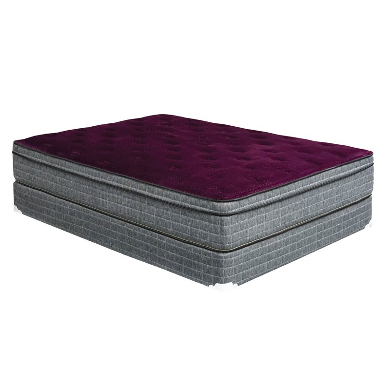 "Furniture of America Bo Cal. King 13"" Euro Pillow Top Mattress in Grey"