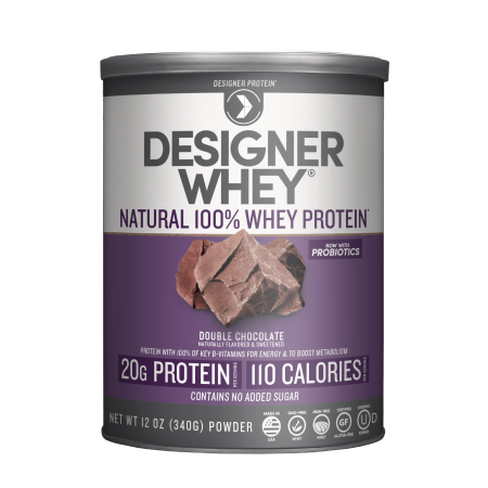 Designer Whey Protein, Double Chocolate, 12 Ounce