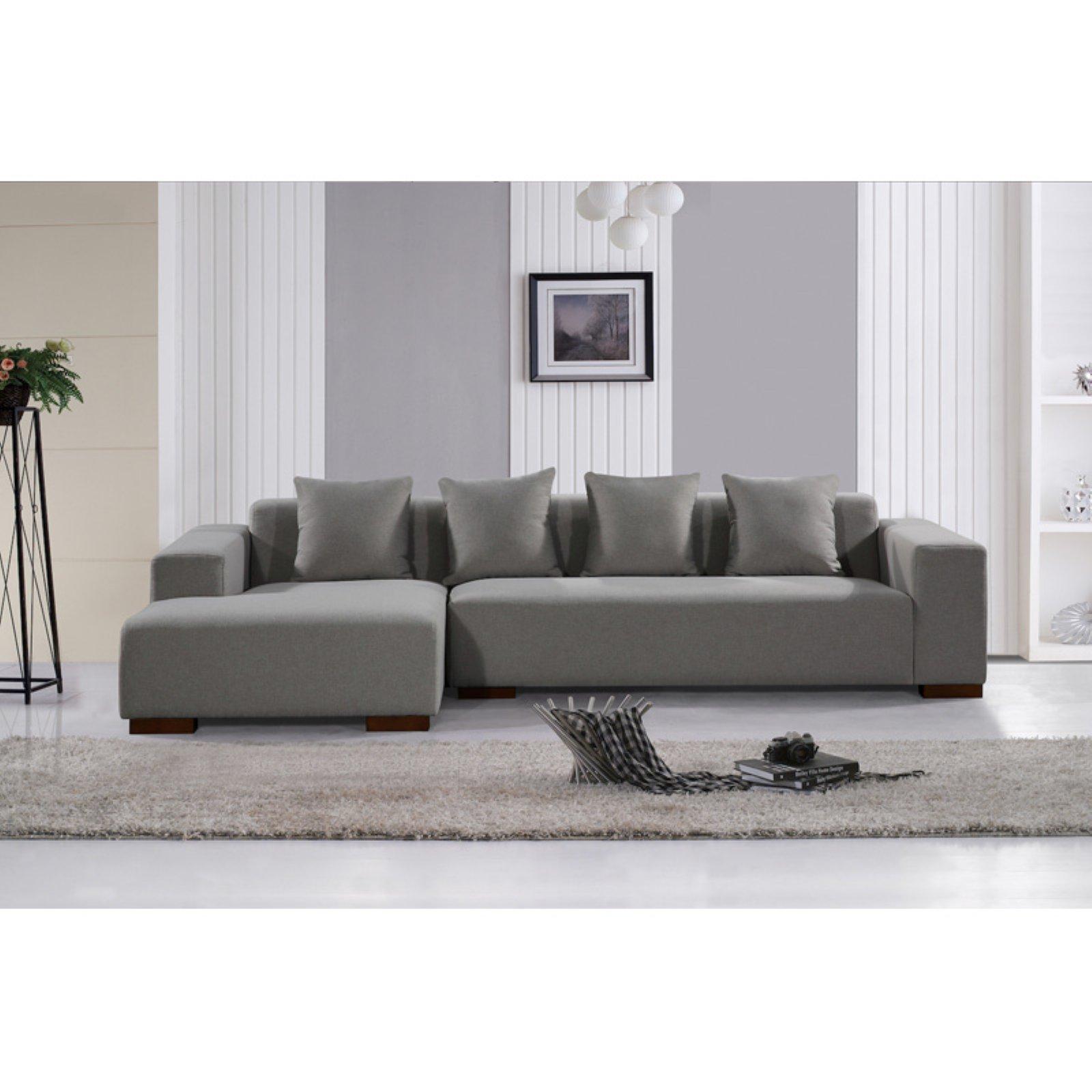 Velago Lungo Contemporary Fabric Sectional Sofa