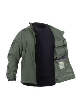 Concealed Carry Waterproof Soft Shell Jacket, Olive Drab, XL