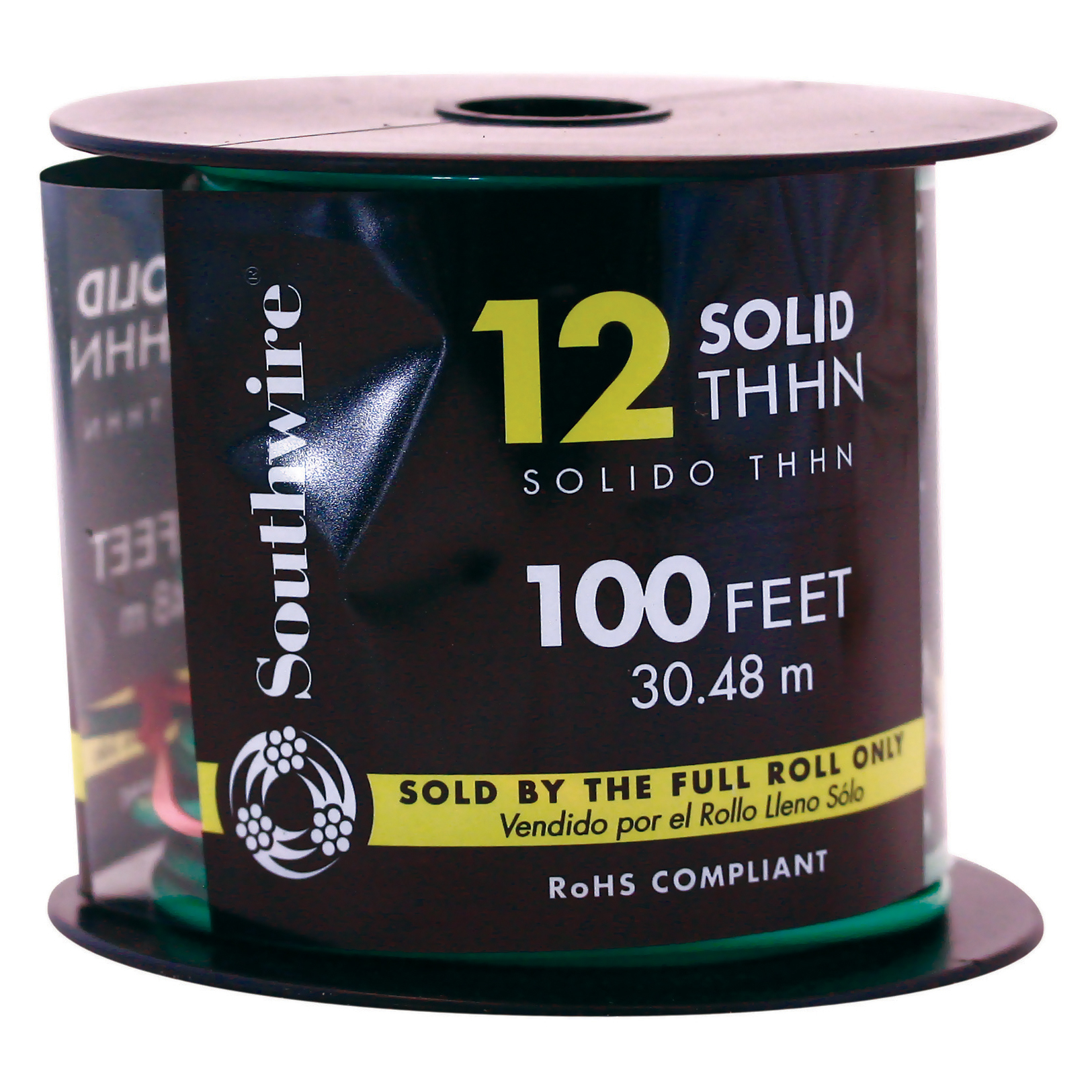 Southwire 11591538 100' 12 Gauge Green THHN® Solid Wire