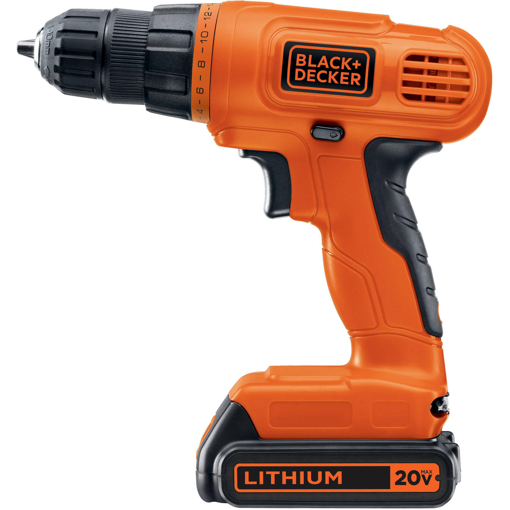 black and decker 20v lithium drill driver with 128 piece project kit 687928890090 ebay. Black Bedroom Furniture Sets. Home Design Ideas