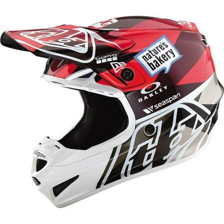 Troy Lee Designs SE4 Polyacrylite Jet Helmet - Red/Grey/Wht, All