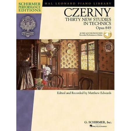 Carl Czerny - Thirty New Studies in Technics, Op. 849 : With Online Audio Recordings of Performances Schirmer Performance ()