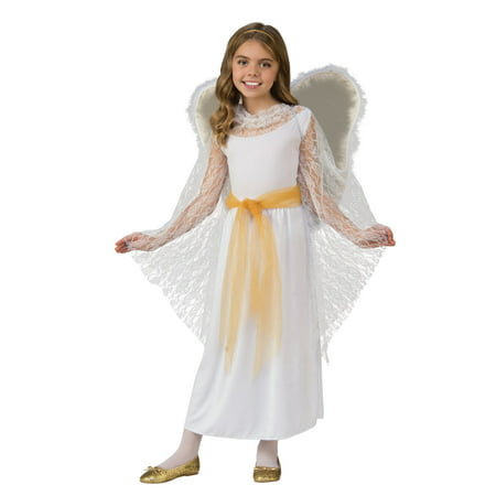 Deluxe Lace Girls Angel Costume - Angels Costumes