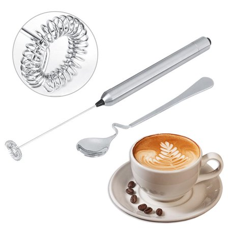 Kitchen Stainless Steel Handheld Battery Operated Electric Coffee Milk Frother with