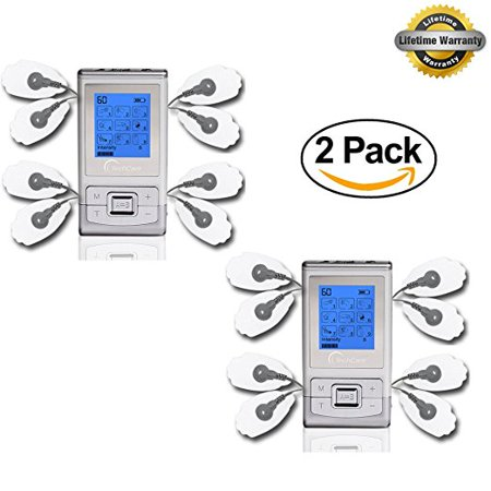 2 Pack Deal Tens Machine SE Dual Channel [Lifetime Warranty] Best Massager Tens Unit FDA 510k Cleared for Pain Management Actic Nerve Disorder Plantar Fasciitis Tennis Elbow Neuropathy