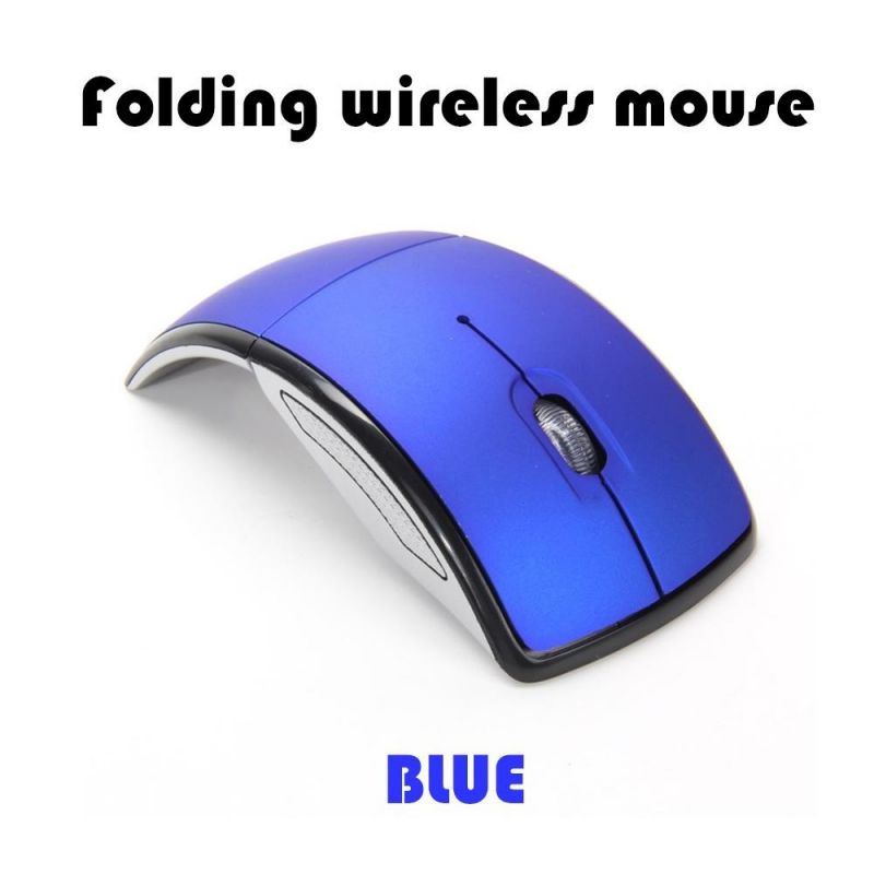 Fysho 2.4G Wireless Mouse Foldable Computer Mouse Mini Travel Notebook Mute Mouse USB Receiver for Laptop PC