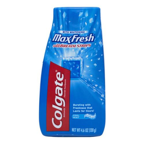 Colgate MaxFresh Fluoride Toothpaste with Mini Breath Strips, Whitening, Cool Mint 4.6 oz (Pack of 3)