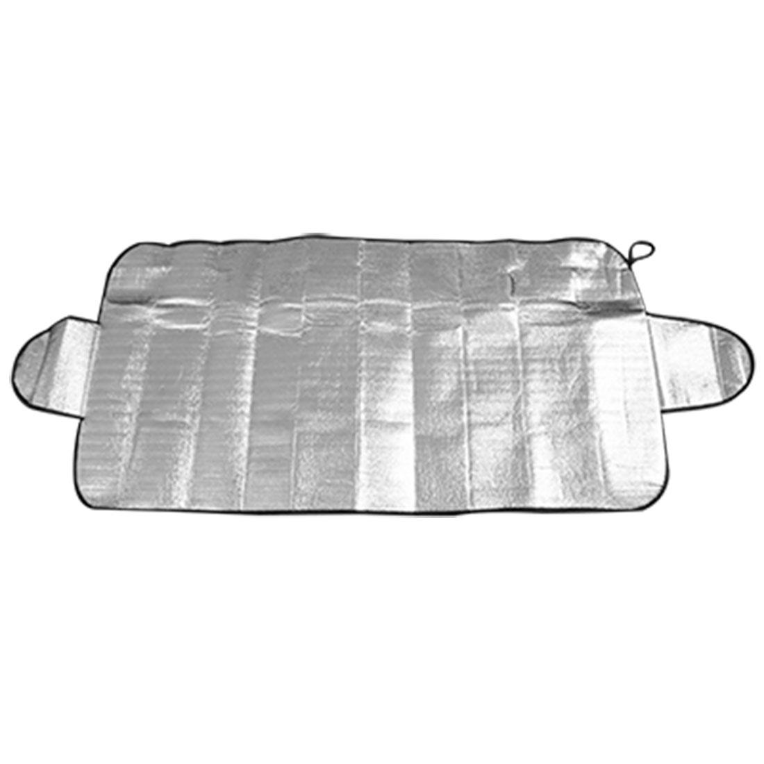Sliver Tone Aluminum Foil Snow Heat Resistant Auto Car Windshield Sunshade - image 3 of 3