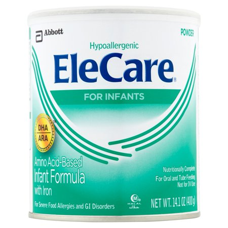 Elecare Canned Powder Infant Formula With Iron  14 1 Oz  Pack Of 6