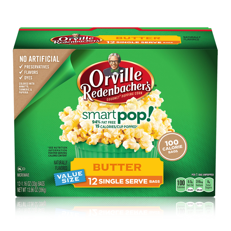 Orville Redenbacher's SmartPop! Butter Microwave Popcorn, Mini Bags, 12 Ct