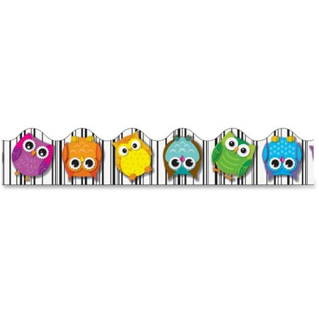 Colorful Borders (Colorful Owls Scalloped Borders - Multi)