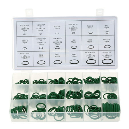 270pcs Assortment Kit Car HNBR A/C System Air Conditioning O Ring Seals Set (Air Conditioning Disconnect Tool)