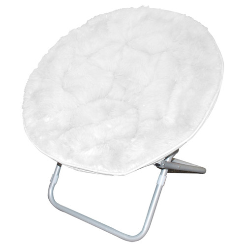 Mainstays Faux Fur Saucer Chair, Available In Multiple Colors   Walmart.com