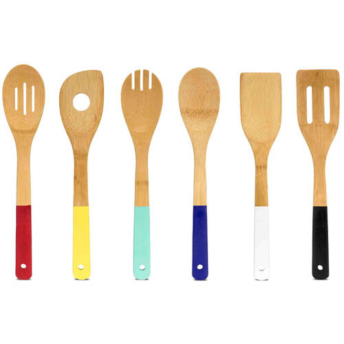 Home Basics 6-Piece Bamboo Kitchen Tool Set