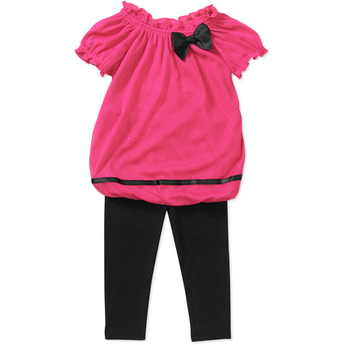 Healthtex Baby Girls' Glitter Tunic and Legging Set
