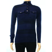 inc new blue mens size small s striped double pocket knit pullover sweater