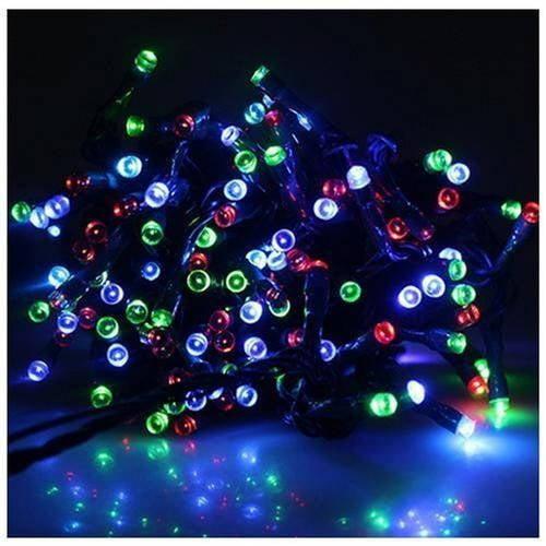ALEKO 50 LED SolarPowered Christmas String Lights Walmartcom