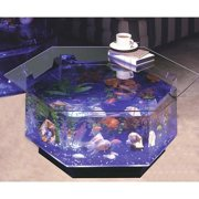 Aqua Hexagon Coffee Table 40 Gallon Aquarium