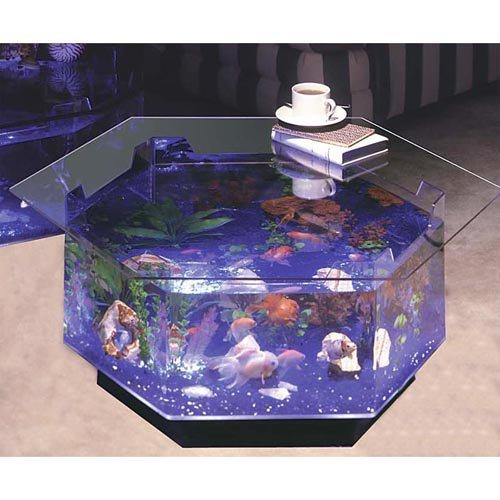 aqua hexagon coffee table 40 gallon aquarium - walmart