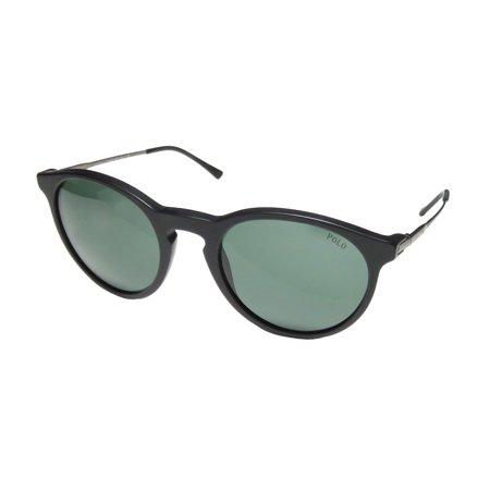 New Polo Ralph Lauren 4096 Mens/Womens Designer Full-Rim 100% UVA & UVB Matte Black / Gray Upscale Fashion Accessory Shades Sunnies Frame Green Lenses 50-20-140 Sunglasses/Sun (Polo Ralph Lauren Sunglasses For Men)
