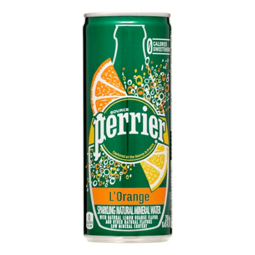 Perrier Sparkling Natural Mineral Water, L'Orange, 8.4 Fl Oz, 30 Count by Nestle Waters North America