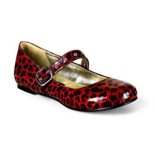 DAI04 R CP Demonia Flats Shoes RED GLITTER Size: 6 by
