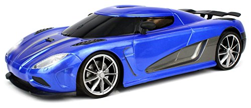 Velocity Toys WFC Koenigsegg Agera R 1:16 Scale Size Rechargeable Remote  Control Car With