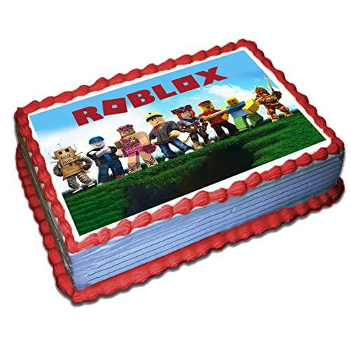 Galaxy Cake Roblox Roblox Edible Cake Topper Icing Sugar Paper 8 5 X 11 5 Inches Sheet Edible Birthday Cake Topper Walmart Com Walmart Com