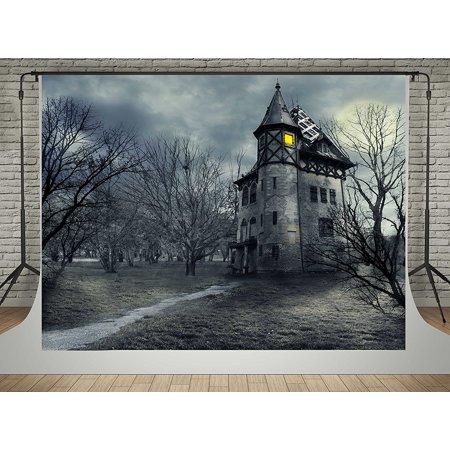 GreenDecor Polyster 5x7ft Halloween Photography Backdrops Forest Vintage Castle Background Photo Fantasy Sky Studio Shoot](Vintage Halloween Photo)