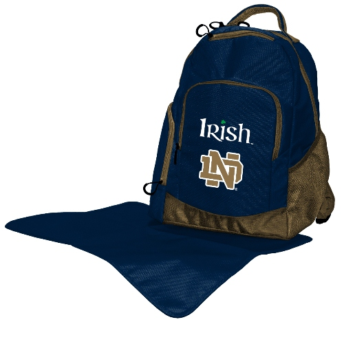 NCAA Diaper Bag by Lil Fan, Backpack Style - Notre Dame Fighting Irish