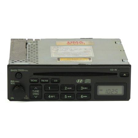 2002-2005 Hyundai Sonata Radio AM FM Single CD Player Part Number  96160-3D102 - Refurbished