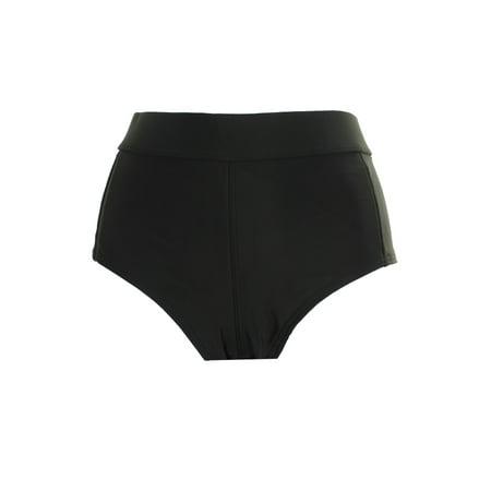 Volcom Black Solid Cheeky Boyshort Swim Bottom