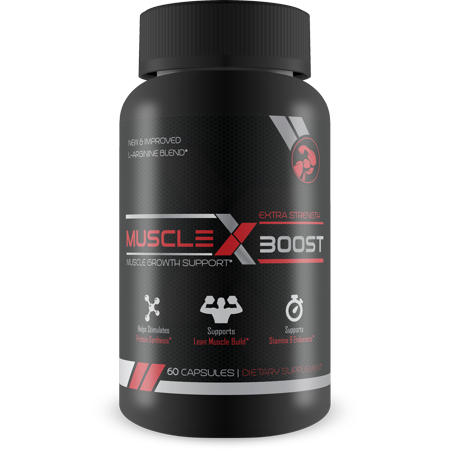 Muscle X Boost - Premium L-Arginine Formula - Extra Strength Muscle Growth Support - Nitric Oxide Booster-Build Lean Muscle - Stimulates Protein Synthesis - Boost (Best Whey Protein For Lean Muscle)