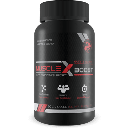 Muscle X Boost - Premium L-Arginine Formula - Extra Strength Muscle Growth Support - Nitric Oxide Booster-Build Lean Muscle - Stimulates Protein Synthesis - Boost Endurance