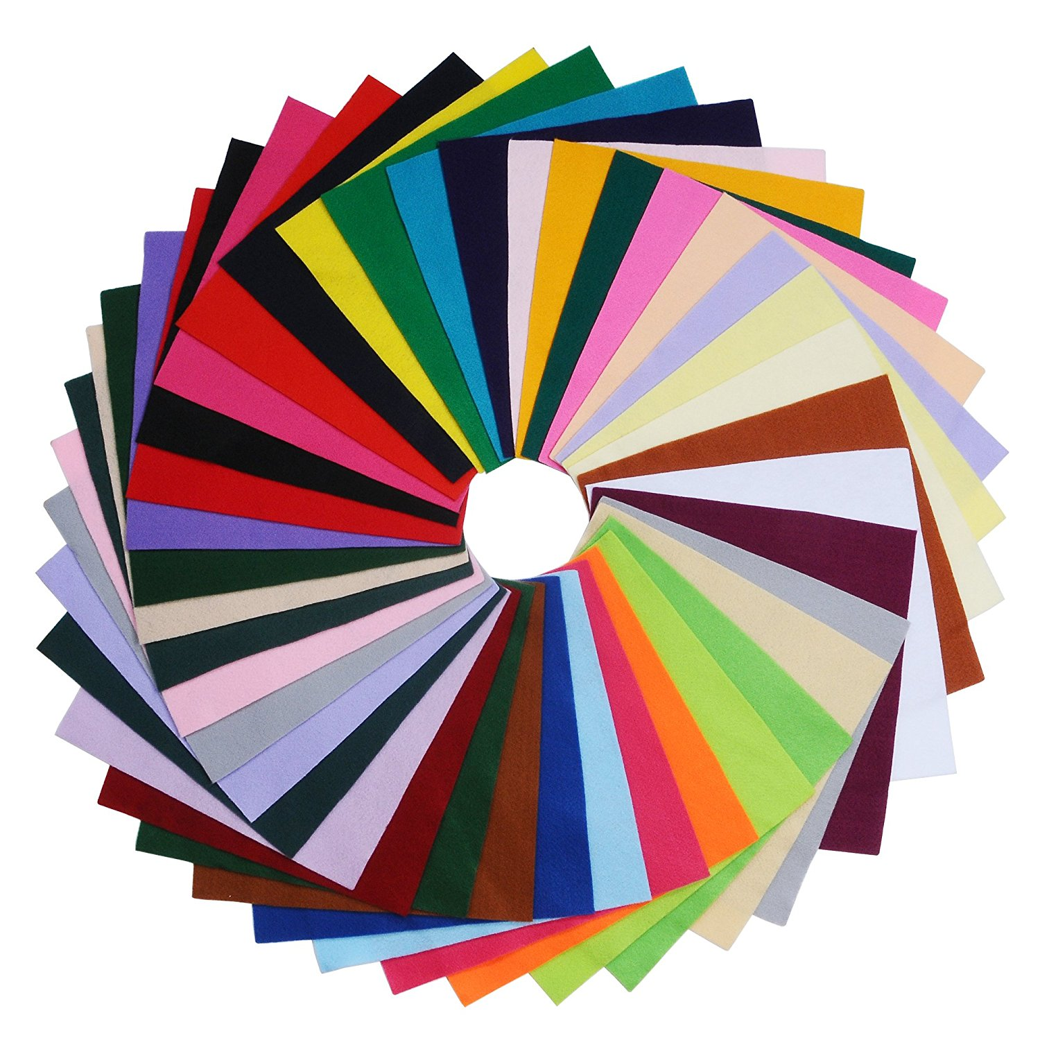 25//Pkg Assorted Colors The New Image Group Glimmer EZ Felt 9-Inch by 12-Inch