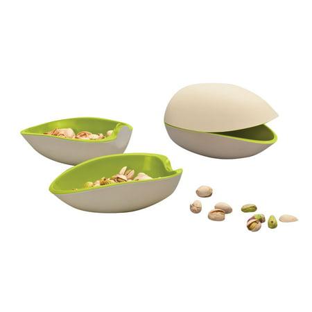 Pistachio Nut Shaped Melamine Serving Bowls Set Of Two