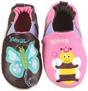 Robeez Infant Toddler Girl Slip on Shoes Princess Bee Esp azalea 12-18 Months by