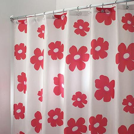 InterDesign Shower Curtain, Poppy - Walmart.com