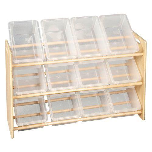 ECR4KIDS 3 Tier Storage Rack with Lids