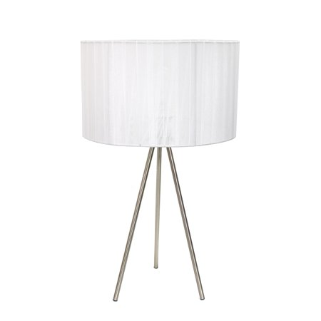All The Rages LT2006-WHT Sheer Silk Band Tripod Table Lamp - White - image 1 of 2