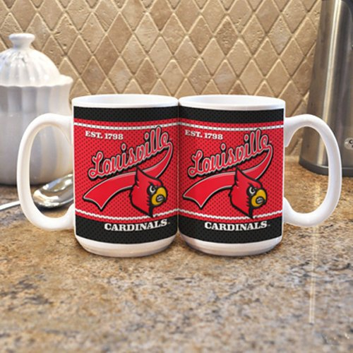 Louisville Cardinals NCAA 15oz. White Vault Mug (Single Mug)