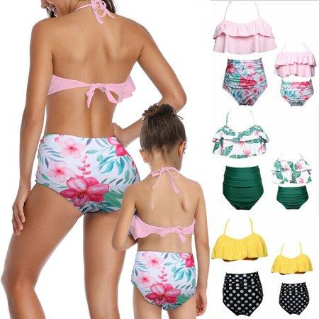 The Noble Collection Family Matching Swimwear Mother Daughter Women Kid Baby Girls Swimsuit Bikini ()