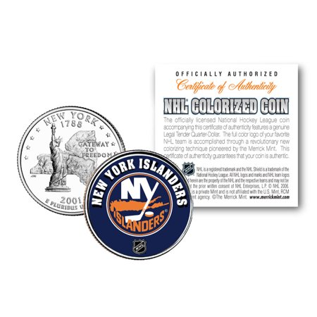 NEW YORK ISLANDERS NHL Hockey New York Statehood Quarter U.S. Coin * LICENSED *