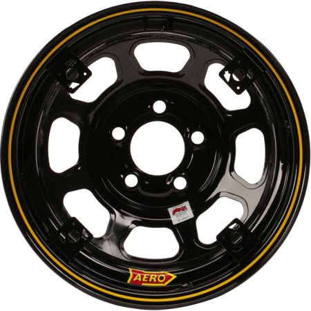 Aero 52 Series 4-Tab 15 Inch Race Wheel, IMCA, 5 on 4-3/4 BP Free Aero Race