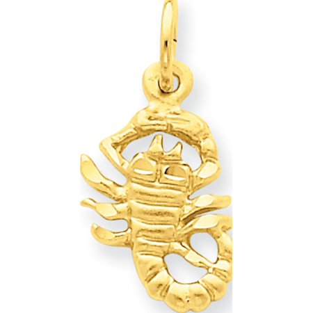 14k Yellow Gold Scorpio Zodiac (10x20mm) Pendant / Charm - image 1 of 1