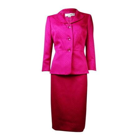 Le Suit Women's English Garden Croco Skirt Suit (Slit Skirt)