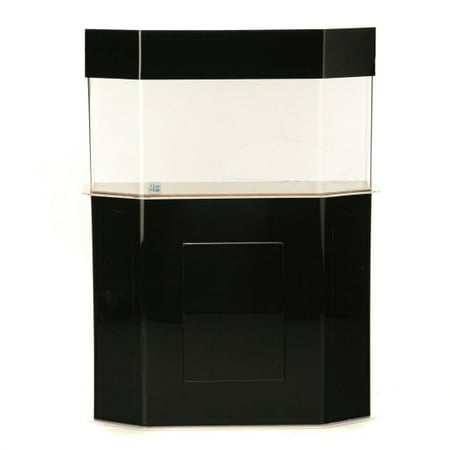 Clear For Life 100 Flat-Back-Hexagon Acrylic Aquarium - Black - 100 Gallon Aquariums